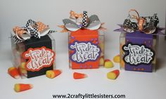 Sizzix Trick or Treat Clear Box Party Favors