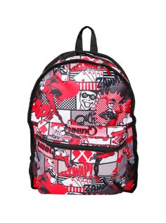 DC Comics Harley Quinn Comic Color Block Reversible Backpack | Hot Topic