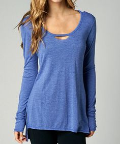 Another great find on #zulily! Deep Cobalt Tailtap Tee - Women by Fox #zulilyfinds