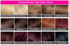 L'Oreal Feria's | Hair | Color | Chart