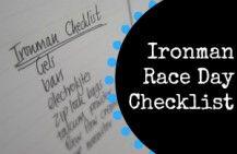 Ironman Triathlon Race Day Checklist