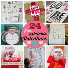 Great Ideas — 24 Free Printable Valentines! -- Tatertots and Jello