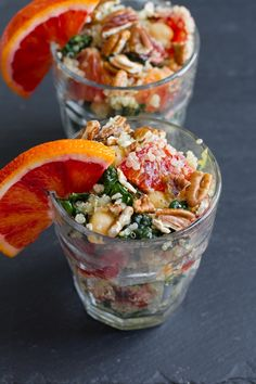 blood orange, quinoa, kale salad with a simple vinaigrette // edible perspective