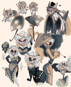 """""""Finals are over summer is here and so are these guys! Fanart, Hazbin Hotel Husk, Alastor Hazbin Hotel, Hotel Trivago, Vivziepop Hazbin Hotel, Angel Dust, Summer Is Here, Magical Creatures, Animation Series"""