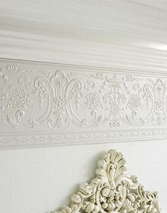 Deedee Dado - Paintable Embossed Walls - Freixe Empire [PAINT-6705] : Designer Walls and Fabrics, Specialty Wallpaper for Home or Office