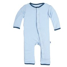 Kickee Pants Solid Coverall with Contrast Trim 03 months pondpeacock >>> For more information, visit image link.