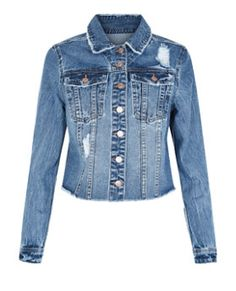 Finish your looks with this Blue Denim Ripped Jacket- the perfect way to embrace the double denim trend. £24.99 #newlook #denim