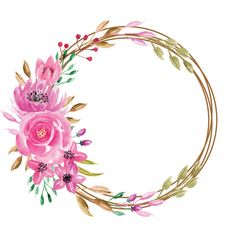 Dulce acuarela floral rosa corona | Vector Premium Classroom Art Projects, Art Classroom, Wreath Watercolor, Floral Watercolor, Pink Wreath, Floral Wreath, Wallpaper Rosa, Arco Floral, Happy Mothers Day Images