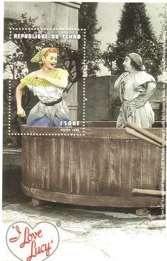 Republique tu Chad -  I Love Lucy stamp