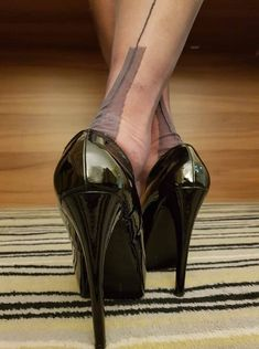 "image - image – – ""image – – You are in the right place about trends humor Here - Black Stiletto Heels, Black High Heels, High Heels Stilettos, Vintage High Heels, Pantyhose Heels, Stockings Heels, Stockings Lingerie, Vintage Stockings, Black Stockings"