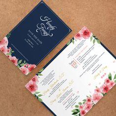 Navy Wedding Invitation  #invitationdesign #invitation #weddinginvitation #schellialion #wedding #weddingcard