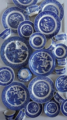 "Blue and White Chinese porcelain / INDIGO / Сине-белый ""Китайский фарфор"" loft-concept.ru интернет-магазин"