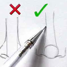 Drawing Tips nose drawing Nose Drawing, Drawing Tips, Painting & Drawing, Drawing Hands, Drawing Techniques Pencil, Sketching Techniques, Drawing Artist, Drawing Practice, Pencil Art Drawings
