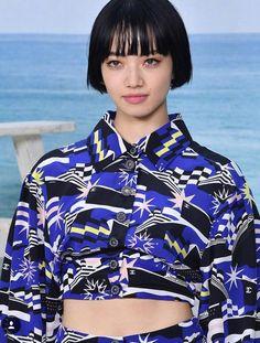 Komatsu Nana, Corte Bob, Japanese Models, Black Horses, Woman Face, K Idols, Hair Inspo, My Hair, Curly Hair Styles