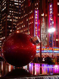 Sixth Avenue Christmas decoration   New York - USA