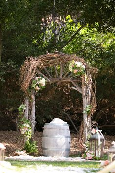 Beautiful Rustic Wedding Arch | Real San Diego Wedding by Swann Soirees | Sean Walker Photography | Arch by: Flowers Annette Gomez
