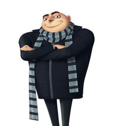 Kids Size GRU Scarf, Knit, from despicable me movie, black and gray color on Etsy, $24.00