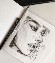 Sketch by Humid Peach. Humid Peach is the name of the artist whose real name is Ksenia Kondyleva. Sketch by Humid Peach. Humid Peach is the name of the artist whose real name is Ksenia Kondyleva. Pencil Art Drawings, Art Drawings Sketches, Sketch Art, Pencil Sketches Of Faces, Portrait Sketches, Anime Sketch, Beautiful Pencil Sketches, Art Du Croquis, Face Sketch