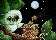 TINY GREEN OWL... MORE FALLING STARS