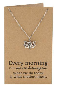 Om Lotus Flower Yoga Jewelry at Wanelo