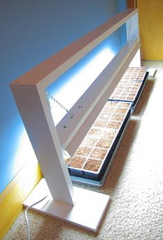 DIY grow light for starting seeds--will have Bruce make this for next year