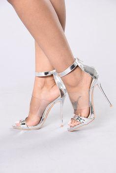 3's A Charm Heel - Silver