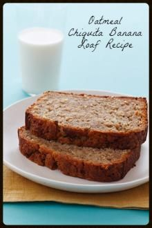 Best Oatmeal Chiquita Banana Loaf Recipe via @ChiquitaBrands // #overripe #overripebanana #banana #bananabread