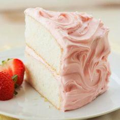 YUM - Champagne Cake with Fresh Strawberries