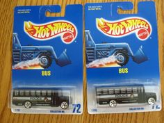 1991 Hot Wheels Lot of 2 Police Bus Black #72 New Old Stock | Toys & Hobbies, Diecast & Toy Vehicles, Cars, Trucks & Vans | eBay!