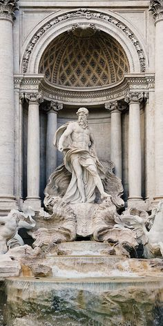 Cruises to Rome (Civitavecchia), Italy Renaissance Architecture, Baroque Architecture, Beautiful Architecture, City Aesthetic, Travel Aesthetic, Aesthetic Backgrounds, Aesthetic Wallpapers, Best Places In Italy, Trevi Fountain