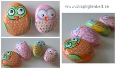 from Skapligt Enkelt. My sons have have brought home so many stones from the beach this summer, maybe do something like this with them.