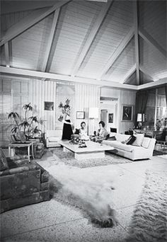 Abernathy house with Noel Birns interiors. Palm Springs, 1965