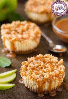 Cup-Cheesecake alla mela e caramello