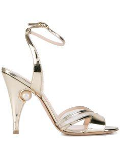 Shop Nicholas Kirkwood metallic sandals.