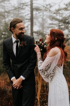 authentic wedding photographer emotional first look in the foggy fall forest authentic wedding photographer emotional first look in the foggy fall forest Beach Wedding Photos, Wedding Poses, Wedding Bride, Fall Wedding, Wedding Pictures, Wedding Ideas, Bride Poses, Lace Bride, Groom Poses