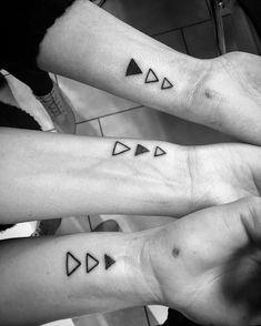 Triangular 3 Best Friends Tattoos