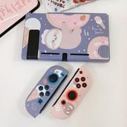 Doughnut Sloth Pastel case for Nintendo Switch The perfect company for your Nintendo Switch, a Doughnut Sloth Pastel case. The bundle that exists, but you never know you need it. The completely cute protection set for your Nintendo Switch included screen protector, button cover, shell cover, joy-con cover, travel case Nintendo Switch Case, Nintendo Switch Accessories, Pink Panda, Switch Covers, Cute Gif, Covered Buttons, Sloth, Screen Protector, Animal Crossing