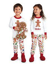 9f7a7b1612 kids personalized gingerbread pj s Family Pjs