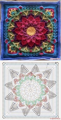Mandala: Crochet Motifs…♥ Deniz ♥ – Love Amigurumi Mandala: Crochet Motifs…♥ Deniz ♥ – Love Amigurumi,Crochet *Mandala* Mandala: Crochet Motifs…♥ Deniz ♥ Related posts:VSCO - holy shit that's a lot of repubs Crochet Mandala Pattern, Crochet Motifs, Crochet Blocks, Granny Square Crochet Pattern, Crochet Diagram, Crochet Stitches Patterns, Crochet Chart, Crochet Squares, Free Crochet