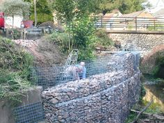 A selection of gabion projects using Weld Mesh supplies. Gabion walls and basket features. Gabion Retaining Wall, Gabion Baskets, Mesh Fencing, Dry Stone, Backyard, Patio, Garden Pictures, Civil Engineering, Baskets On Wall