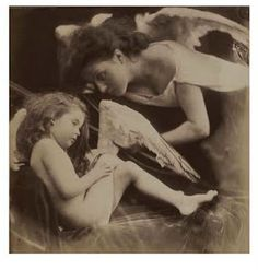 """Venus Chiding Cupid and Removing His Wings"" Julia Margaret Cameron British, 1872 Albumen silver print Here Cameron posed a maternal Venus, played by her maid Mary Hillier, attending to a sleepy cupid. Charles Darwin, Vintage Photography, White Photography, Photography Gallery, Film Photography, Old Photos, Vintage Photos, Vintage Art, Emerson"