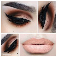 dramatic eyes soft lips