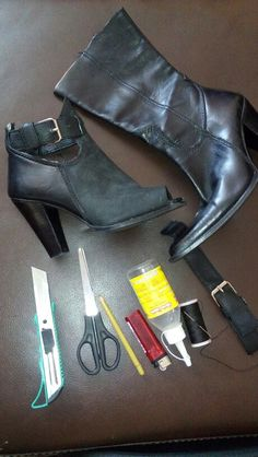 Cortar y pegar! Old Boots, Shoe Boots, Shoes, Cowboy Boots, Shoe Makeover, Shoe Refashion, Diy Crafts Jewelry, Diy Clothing, Diy Fashion