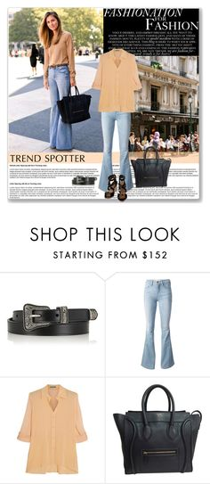"""Flare Jeans & Celine bag"" by stellaasteria ❤ liked on Polyvore featuring Yves Saint Laurent, Frame Denim, Alice + Olivia, CÉLINE, Hermès and flarejeans"