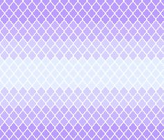 Purple ombre quatrefoil fabric by mezzime on Spoonflower - custom fabric