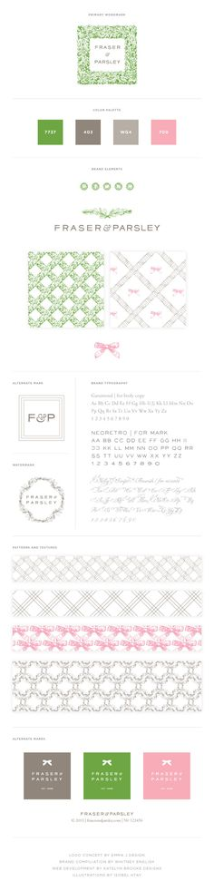 Fraser & Parsley Brand Style Guide with Elements by Whitney English, Kate Baird, Emily McCarthy & Isobel Htay