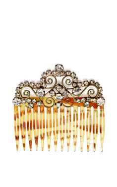 Great Gatsby Inspired: 1920S French Rhinestone Haircomb by New York Vintage