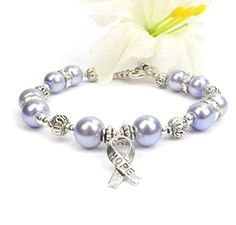 Periwinkle Purple Hope Ribbon Awareness Bracelet, Eating ...