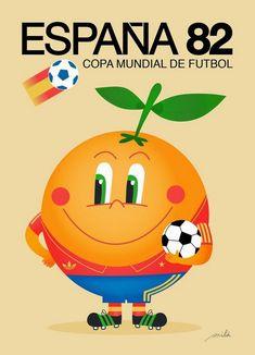 1982 World Cup Finals poster. Football Art, World Football, Soccer World, Vintage Football, World Of Sports, 1982 World Cup, Fifa World Cup, Vintage Italian Posters, Vintage Ads
