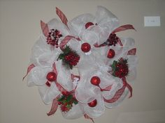 Christmas Mesh Wreaths for Sale - Bing Images